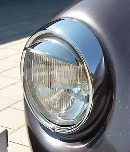 VW-Kaefer-Scheinwerfer-Schirmchen-EDELSTAHL-CHROM-ab-1968-034-1-PAAR-034-020-4405