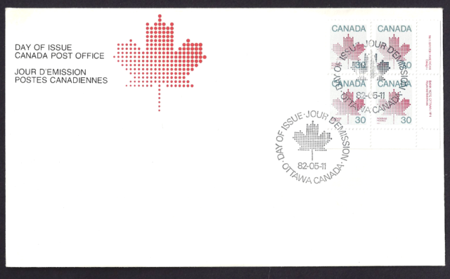 Canada     # 923 LRpb    MAPLE LEAF     Brand New 1982 Unaddressed Cover