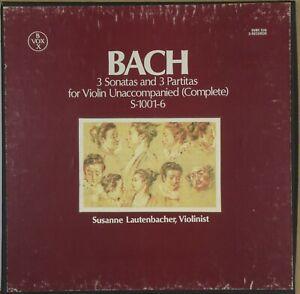 SUSANNE-LAUTENBACHER-Bach-3-Sonatas-amp-Partitas-Violin-VOX-BOX-SVBX-526-3-LP-NM