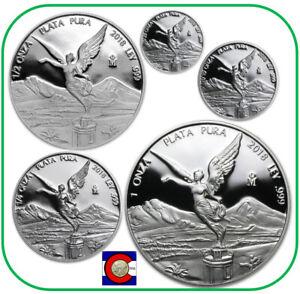 in capsules 2019 Mexico BU Silver Libertad 4 Coin Set 1//20 1//10 1//4 1//2oz