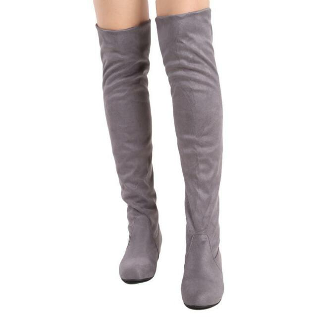 6ceac939c56 ... Knee Thigh High Suede Long BOOTS E Grey 11. About this product. Picture  1 of 13  Picture 2 of 13  Picture 3 of 13  Picture 4 of 13. 10. Picture 13  of 13