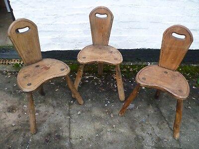Oak Bar Stools Buy One Give One Three Legged Bar Chairs Rustic Oak Honest Set Of Three Antique French