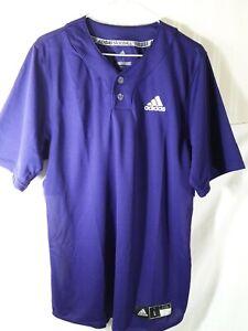 Adidas Mens Elite 2 Two Button Baseball Jersey Purple/White Size L ...