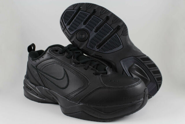 the best attitude 2acff 6992f NIKE AIR MONARCH IV 4 EXTRA WIDE 4E EEEE TRIPLE BLACK MONO CROSS TRAINER  MENS SZ