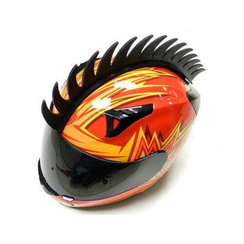CRESTA PER CASCO Helmet Mohawk SAW BLADE  RACING MOTOCROSS Biker Ski Snowboard