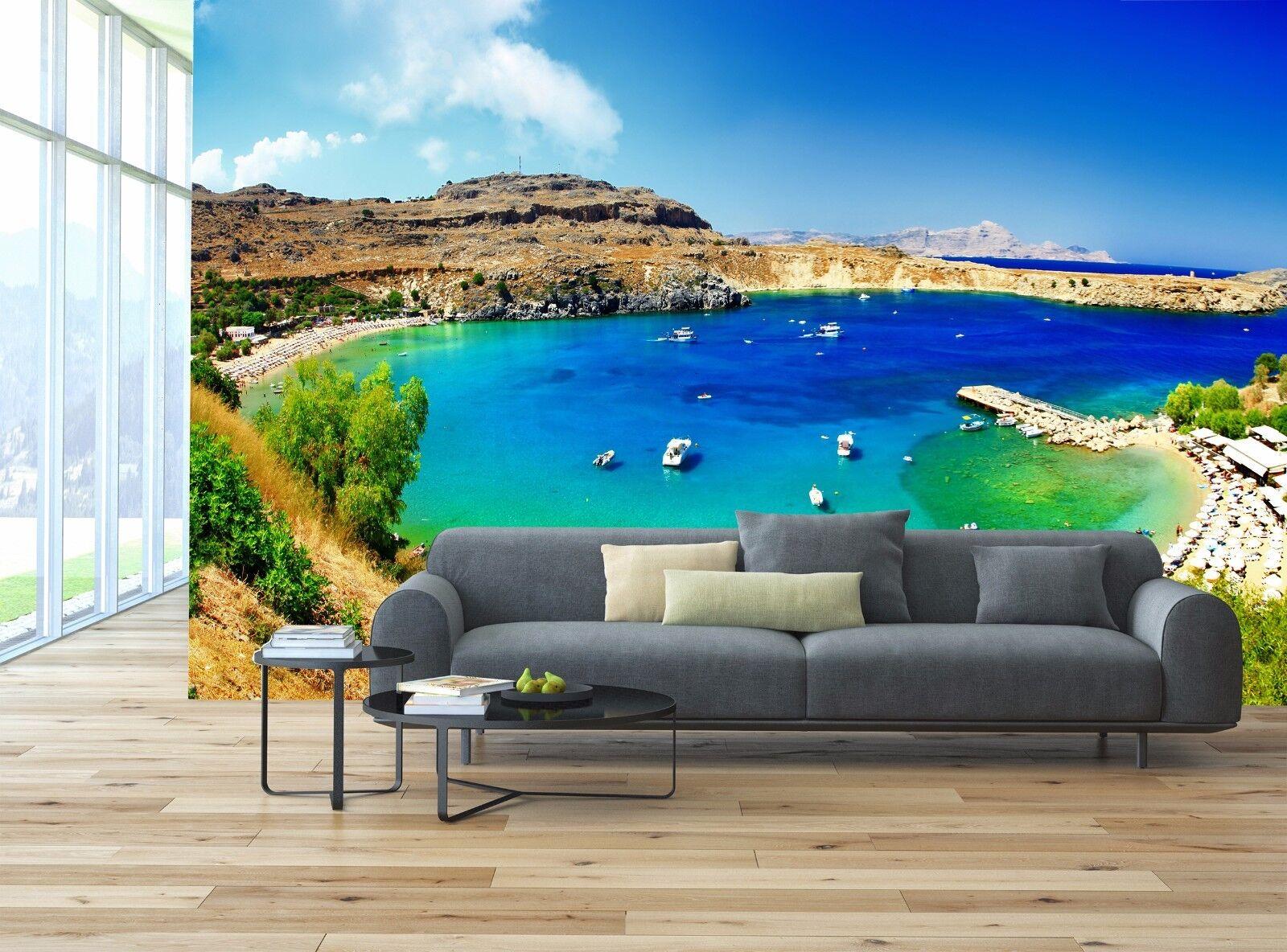 Rhodos Insel, Griechenland 3D Tapete Wandkunst Tapete Hintergrund Möbel