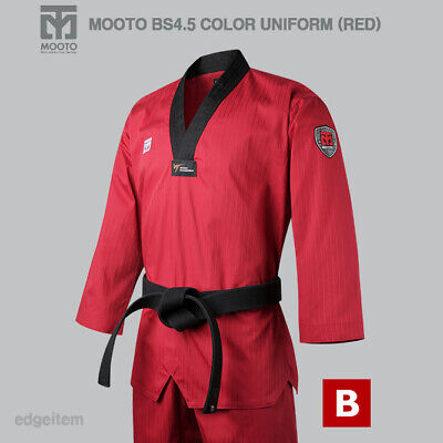 MOOTO BS4.5 Red Color Uniform WT Taekwondo Demonstration Team Dobok Performance