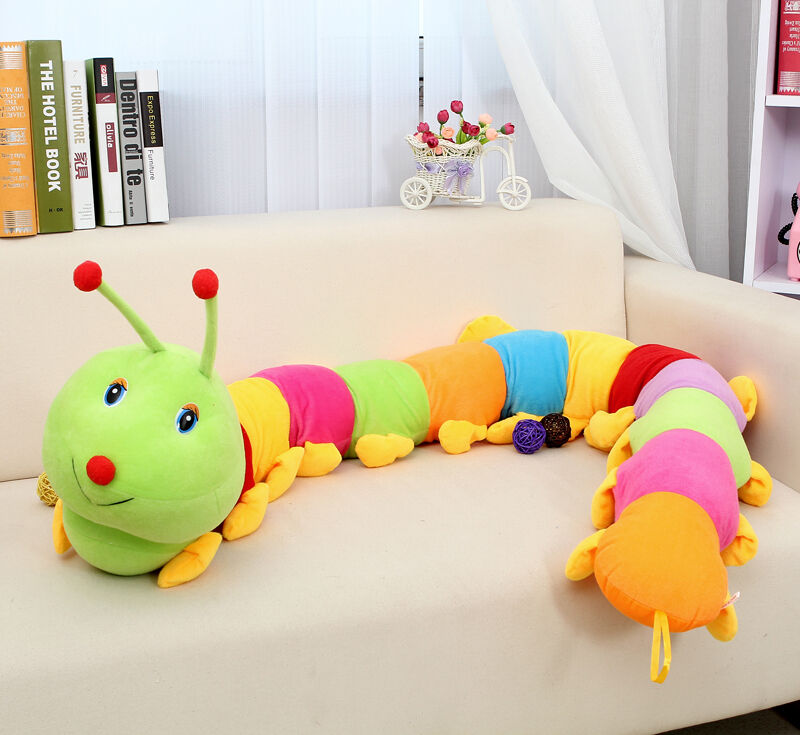 55'' Giant creative long colorful caterpillar plush soft toys Millipedes gift