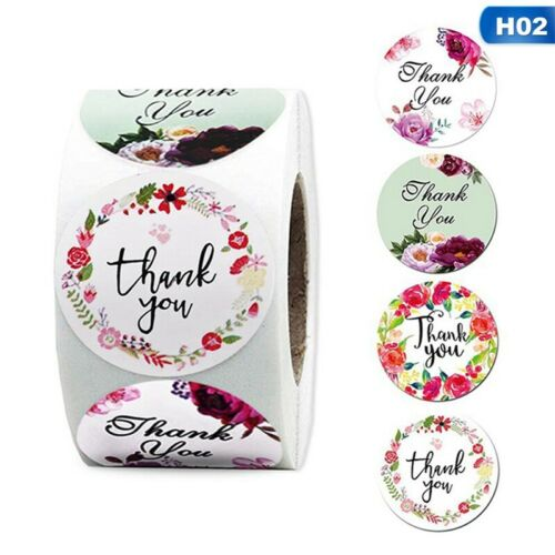 500 Thank You Stickers For Your Support Business Labels Round Heart Wedding