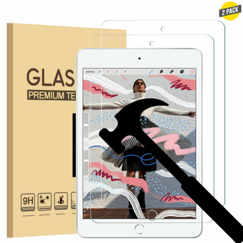 2 Pack Tempered Glass Screen Protector for Apple iPad Mini 5 2019 5th// 4th Gen