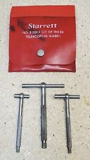 Starrett No 229 Telescoping Gages Set Of 3 12 To 2 18