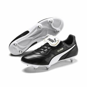 Puma King Top SG Soft Ground pour homme Football Soccer boots Crampons Noir Blanc