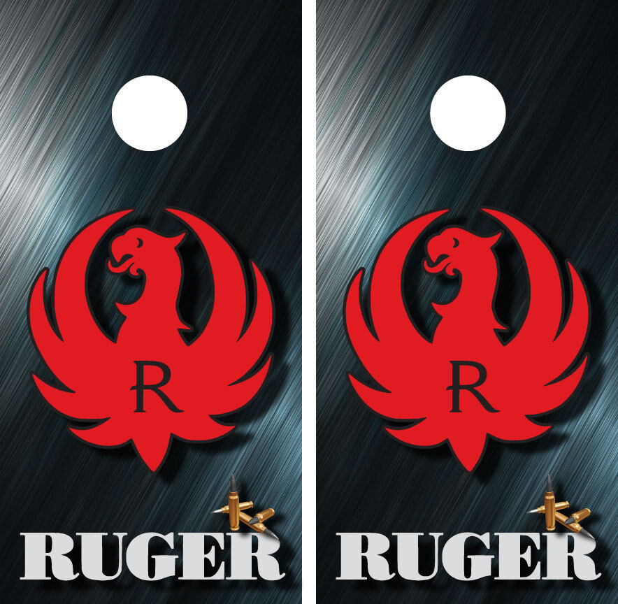Ruger Guns Ammo Cornhole Board Wraps Skins Vinyl HIGH QUALITY    quick answers