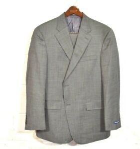New Austin Reed 44r 38 Gray Woven Fairfield 2 Button Usa Recent Wool Suit Ebay