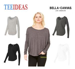 5f649b59 Bella + Canvas Ladies' Flowy Long-Sleeve T-Shirt with 2x1 Sleeves ...