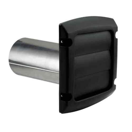 "Dundas Jafine 4/"" Dryer Vent Louvered Black  Kit Pro Vent BLH4BLKZW6"