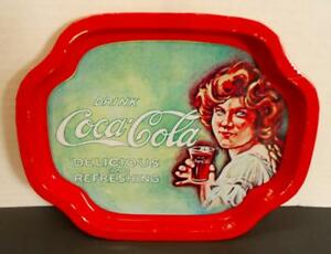 VTG-7-5-034-COKE-Collectible-Metal-Tray-034-Drink-Coca-Cola-Delicious-and-Refreshing-034