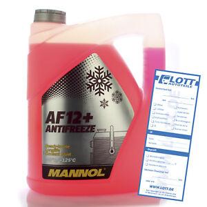 Mannol Antifreeze 5L Kühlerfrostschutz G12+ Kühlmittel AF12+ bis - 40°C Audi VW