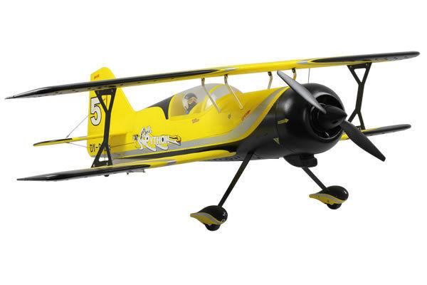 Dynam Pitts Model 12 ARTF Electric Bi-Plane Yellow no Tx Rx Bat Chg