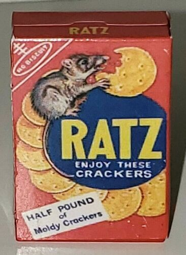 Details about  /WACKY PACKAGES MINIS 3D PUNY PRODUCTS TOPPS RATZ CRACKERS OLD SKOOL SPOOF FOOD
