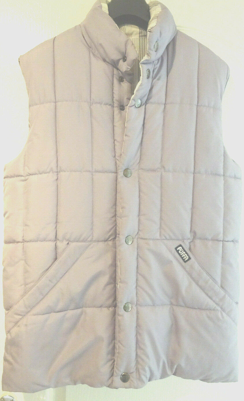 LADIES REVERSIBLE PUFFA GILET  BODY WARMER. SIZE M (12-14) IMMACULATE CONDITION