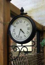 Reloj De Pared nuevo ferrocarril de jardín al aire libre Vintage número romano tradicional Estación