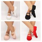 1 Pair Girls Kids Canvas Ballet Dance Shoes Flat Slippers Aerobic Shoes 4 Colors