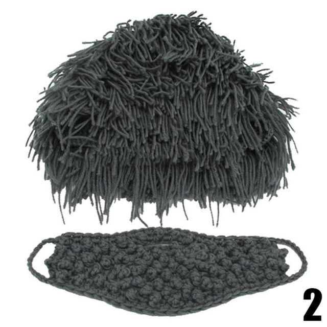 Wig Beard Hat New Costume Knit Warm Winter Caps Men Women Mens Fashion Caveman