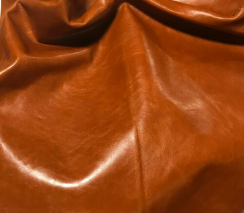 "BURNT ORANGE Cow Hide Leather 8/""x8/"" Piece"