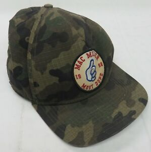 new concept 11c90 487ce Image is loading mac-Miller-1992-Most-Dope-Green-Camo-Snapback-