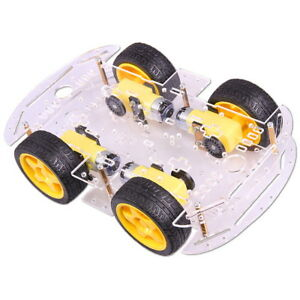 4WD-Motor-Smart-Roboter-Chassis-4-Rader-Kit-mit-Encoder-fur-Arduino-Car