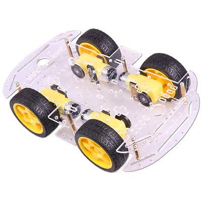 4WD Motor Smart Roboter Chassis 4-Räder Kit mit Encoder für Arduino Car