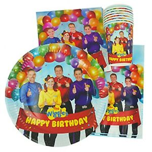The-Wiggles-40pc-Party-Pack-Setting-for-8-Plates-Cups-Napkins-Lootbags-Photo