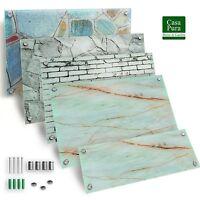 Design Magnettafel Glas Memoboard Mit Stein Motiv Sicherheitsglas | Beschreibar