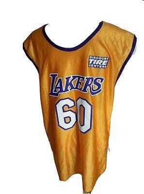 LA LOS ANGELES LAKERS 1948 60 YEAR ANNIVERSARY NBA JERSEY GOLDEN MENS L LARGE | eBay
