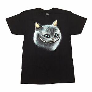 Maglietta Alice nel Paese delle Meraviglie Disney Smile Cat Cotton Black