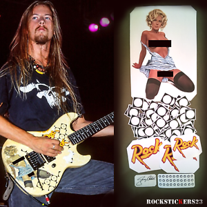 Jerry-Cantrell-guitar-stickers-034-Blue-Dress-034-G-amp-L-Rampage-decal-Alice-in-Chains-set