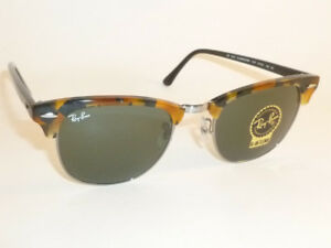a03742f1e4 New RAY BAN Clubmaster Tortoise Frame RB 3016 1157 G-15 Green Lenses ...