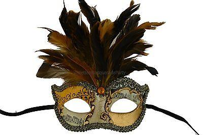 Prom Party Masquerade Ball Feather Eye Mask Green Fuchsia Aqua Gold Costume Fun