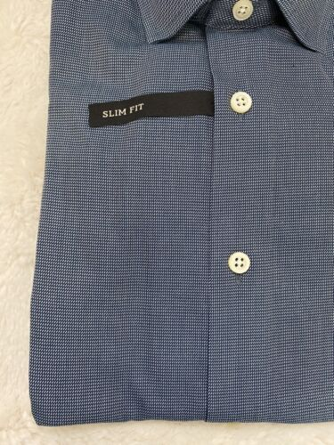Details about  /BRAND NEW NWT Banana Republic Men's Non-Iron Slim Fit Shirt Size XS Navy Pattern