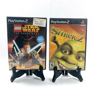 Shrek 2 & Lego Star Wars The Video Game Sony PlayStation 2 PS2 Tested Very Good