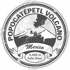 "Popocatepetl Volcano Mexico Vintage Stamp Car Bumper Vinyl Sticker Decal 4.6"""