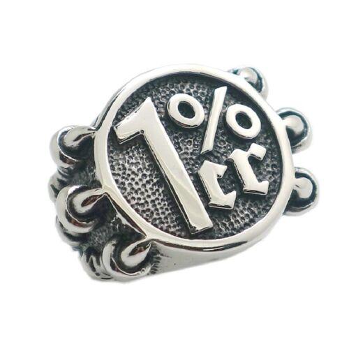 1/%er Biker Edelstahl Ring Onepercenter Outlaw MC 81 Gesetzlos Harley RE110