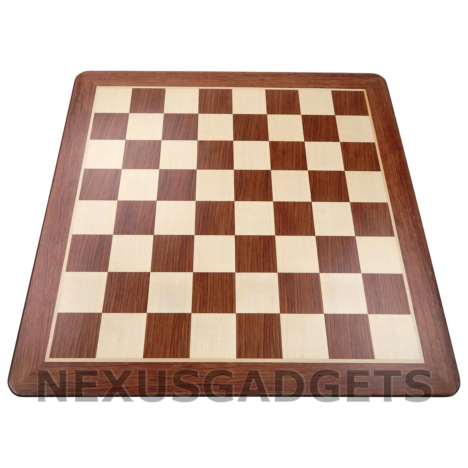 Tena Chess 19 INCH EXTRA LARGE Wood Game Set Flat Inlaid Wooden BOARD ONLY Nuovo