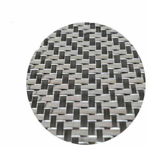 Metallic Carbon fiber Silver reflection mixed fabric Carbon cloth 50*100 250gsm