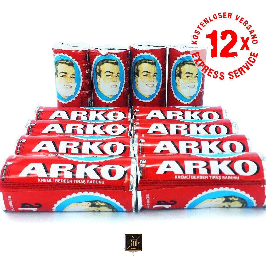 Aktion 12x Arko Rasierseife Rasierschaum Rasiergel 75gr Karton Tiraskremi