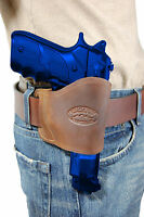 Barsony Brown Leather Yaqui Gun Holster For Steyr, Walther 9mm 40 45 Full Size