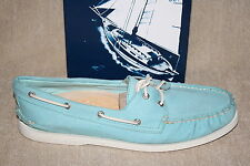 WOMENS SPERRY A/O 2-EYE TWILL BLUE RAD BOAT SHOES US SIZE 12 M (S1227)