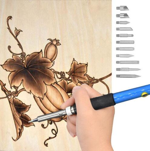 71x Wood Burning Kit Soldering Embossing Carving Woodburning Tool US//EU//UK Plug