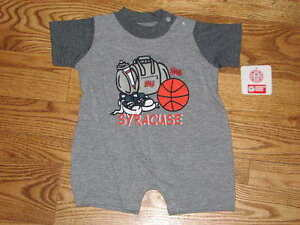 NEW Baby Syracuse University Orangemen Creeper Romper Size 12M 12 Mos Boys  Girls